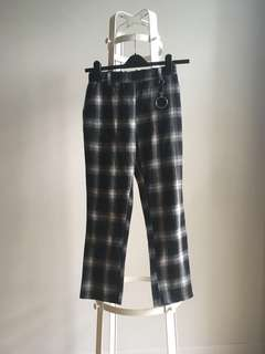 Plaid checkered pants