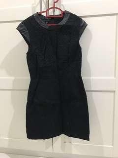 💯 Mango Panel Black Dress