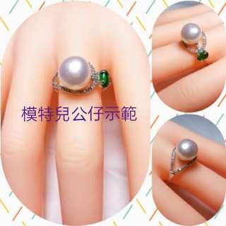 Genuine big pearl silver ring 大真珍珠銀戒指