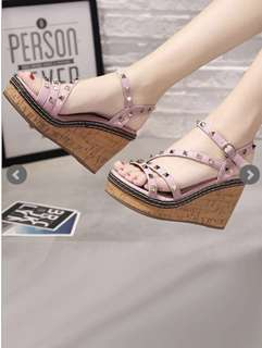 Pink and brown Wedge