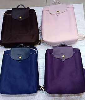Authentic longchamp Backpack Updated color