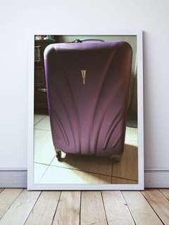 Purple big luggage