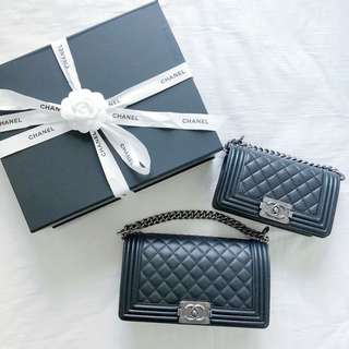 CHANEL Boy Medium 25cm & Small 20cm
