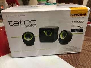 🚚 SonicGear Tatoo 300Xb 2.1 Speakers