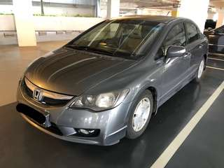 Honda Civic Hybrid for Rental- Best fuel consumption