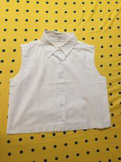 colorbox white shirt sleveless