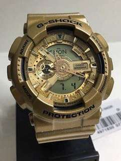 GA-110 GOLD GSHOCK WATCH