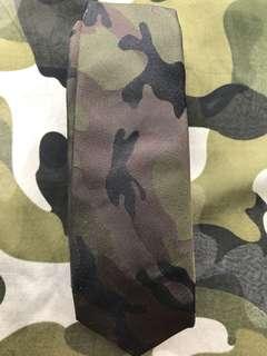 valentino camouflage silk tie