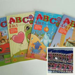 Activity Book with customised 12mini colour pencil goodie bag