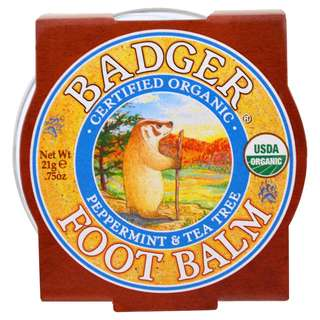 Badger Company, Foot Balm, Peppermint & Tea Tree