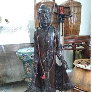 Very Old Wooden Thai Buddah Statue