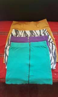 TAKE ALL! 4 PCS OF PRELOVED SKIRT FOR ONLY 250! S/M SIZE.