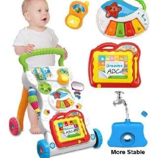 🔥HOT DEAL🔥Baby Kids Children Toddler Push Music Walker education learning toys