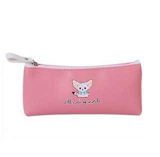 🦊BN INSTOCK Adorable Baby Fox Light Pink Pencil Case Bag