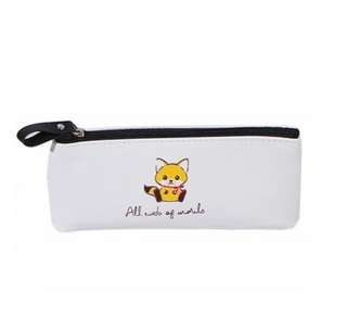 🦊BN INSTOCK Adorable Baby Fox White Pencil Case Bag