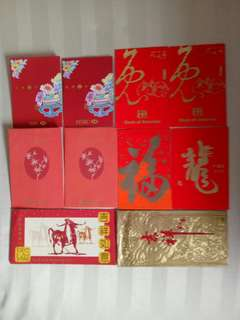Vintage Red Packets Banks Assortment, 10pc