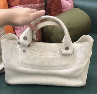 White Bag Real Leather