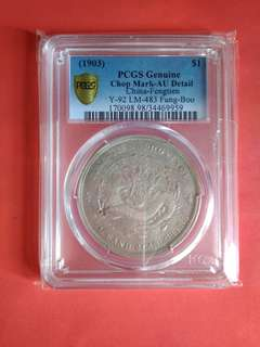 China Silver Dollar Coin Feng Tien Yr 1903 Au Details