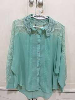 Soft green blouse