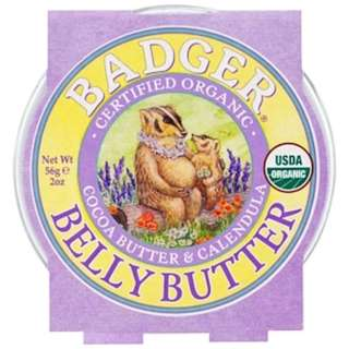 Badger Company, Organic Belly Butter, Cocoa Butter & Calendula, 2 oz (56 g)