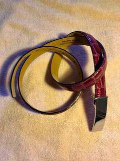 澳洲製真皮皮帶(酒紅色) Australian made Genuine Leather Belt (Wine Red)