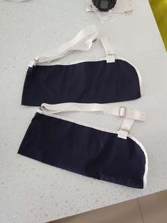 Free mail- Navy adjustable arm sling cast