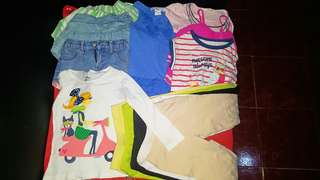 TAKE ALL! 8pcs. + free 5 leggins PRELOVED GIRLS APPAREL FOR 2 TO 3 years old