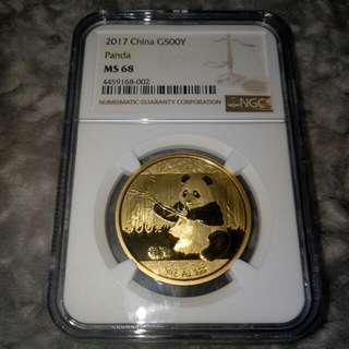 MS68 Gold Panda 30gram Coin (NGC)