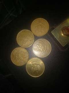 5 uang logam 500an mangga para agan kolektor di Nego aja gan