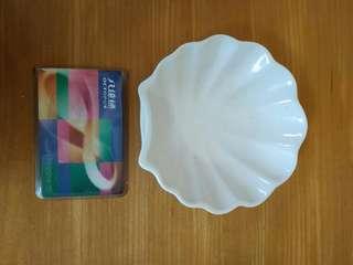 Shell dish porcelain
