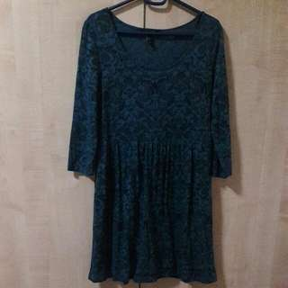 Forever21 Teal Lace Dress