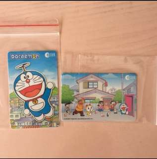 2 Doraemon Ezlink Card
