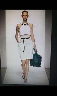 Bottega Veneta 白色削肩小洋裝
