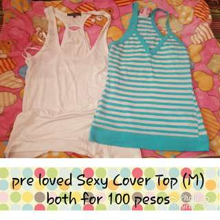 Pre love cover top/sexy top