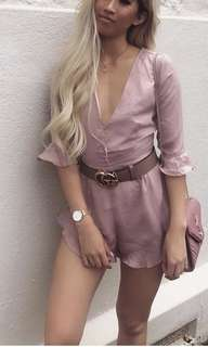 Silk playsuit