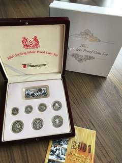 S200 - Singapore 2001 Silver Proof Coin Set