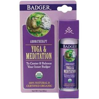 Badger Company, Yoga & Meditation, Cedarwood & Mandarin, .60 oz (17 g)