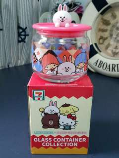 🚚 Line Friends & Sanrio Characters Glass Container Collection