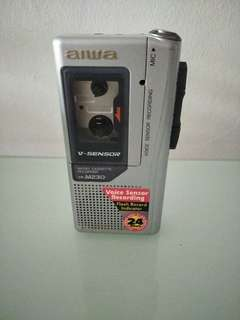 Aiwa TP-M230 Micro Casette Recorder with Voice Sensor