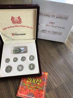 A010 - Singapore 2002 Silver Proof Coin Set