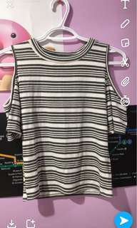 Urban Outfitters Stripped shoulder Top
