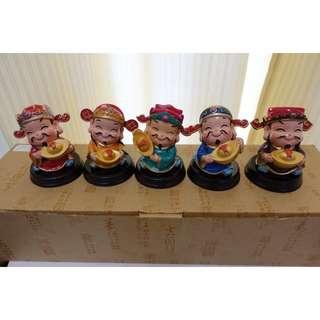 五行财神Figurines