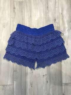 Blue Lace Skort