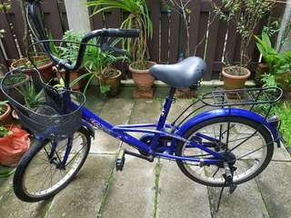 Blue Bicycle for elder kids and young adults