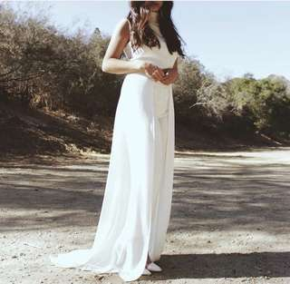 Jumpsuit White with Trail