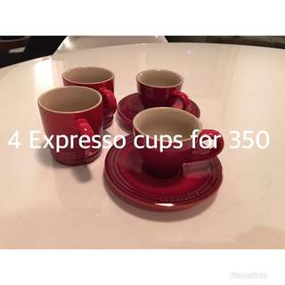 Le Creuset expresso cups with saucer