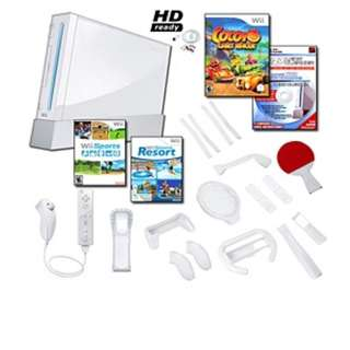 Nintendo Wii SPORT RESORT x 2 controllers (INCLUDE GAMES x 10)