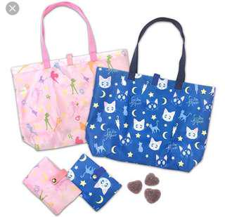🚚 美少女戰士 環保購物袋 提袋 香港 7-11 限定 粉色款