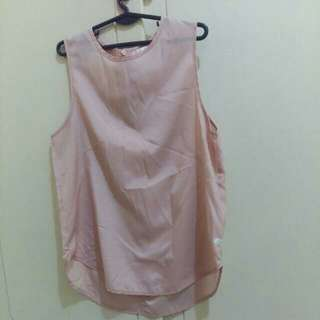 Satin sleeveless