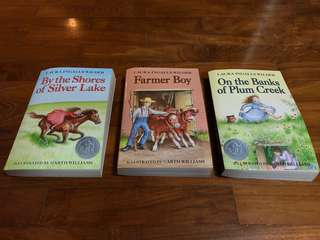 3 books from Laura Ingalls Wilder Little House series